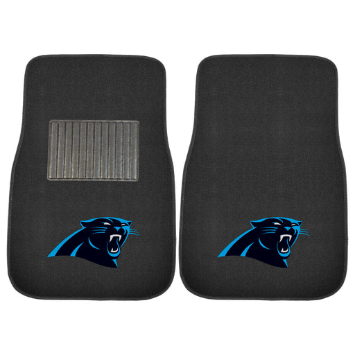 Carolina Panthers 2-pc Embroidered Car Mat Set | Man Cave Authority | 17130