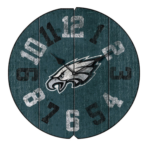 Philadelphia Eagles Vintage Round Clock | Man Cave Authority | IMP 172-1037