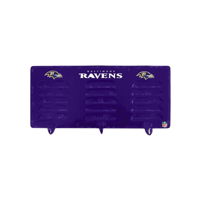 Baltimore Ravens 3 Hook Metal Locker Coat Rack | Man Cave Authority | IMP 173-1025