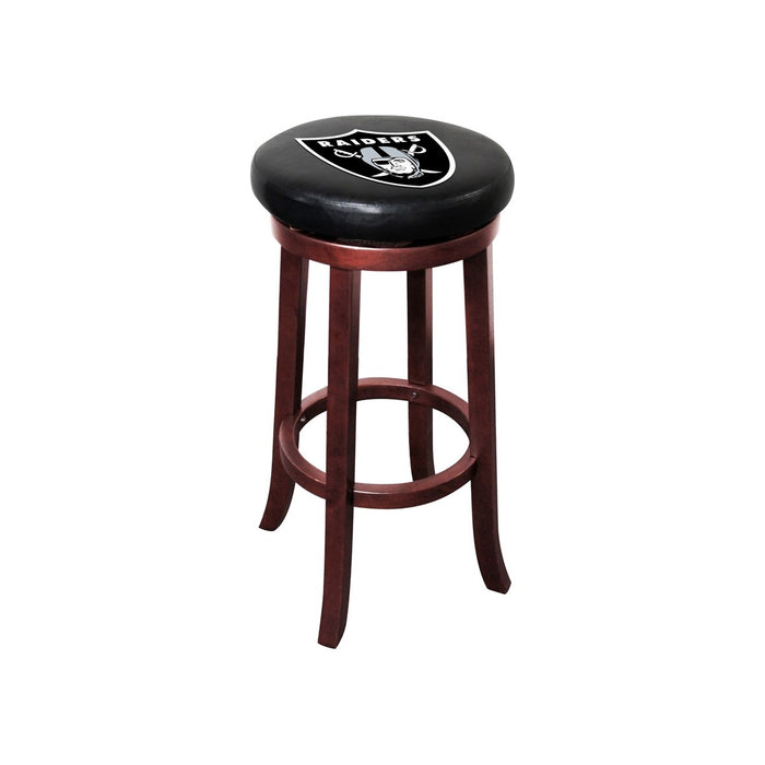Oakland Raiders Wood Bar Stool | Man Cave Authority | IMP 177-1010