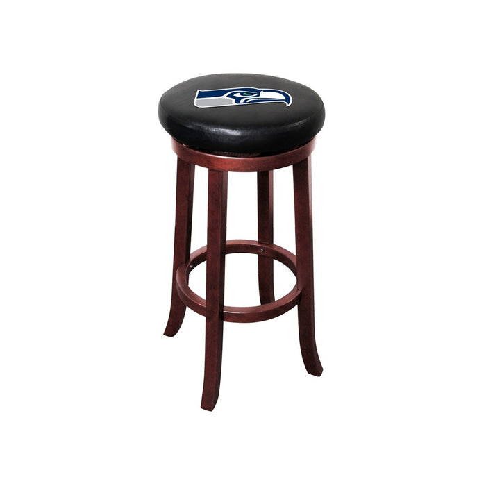 Seattle Seahawks Wood Bar Stool | Man Cave Authority | IMP 177-1024
