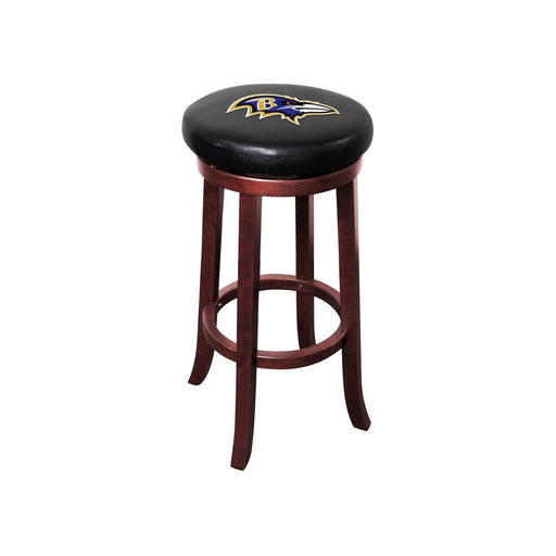 Baltimore Ravens Wood Bar Stool | Man Cave Authority | IMP 177-1025