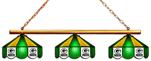 Green Bay Packers 3 Shade Glass Lamp | Man Cave Authority | IMP 18-1101