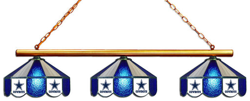 Dallas Cowboys 3 Shade Glass Lamp | Man Cave Authority | IMP 18-1102