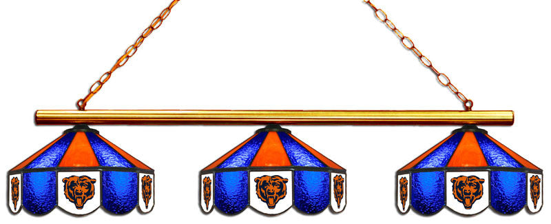 Chicago Bears 3 Shade Glass Lamp | Man Cave Authority | IMP 18-1119