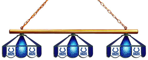 Indianapolis Colts 3 Shade Glass Lamp | Man Cave Authority | IMP 18-1122