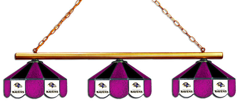 Baltimore Ravens 3 Shade Glass Lamp | Man Cave Authority | IMP 18-1125