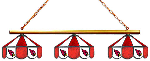Arizona Cardinals 3 Shade Glass Lamp | Man Cave Authority | IMP 18-1129