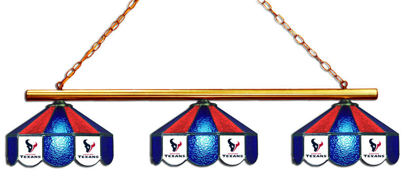 Houston Texans 3 Shade Glass Lamp | Man Cave Authority | IMP 18-1134