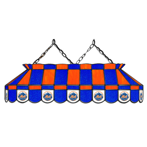 New York Mets Stained Glass Pool Table Lamp | Man Cave Authority | IMP 18-2002