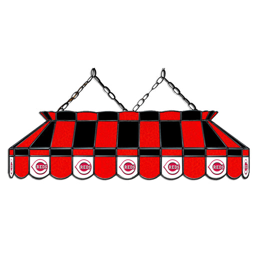 Cincinnati Reds Stained Glass Pool Table Lamp | Man Cave Authority | IMP 18-2007
