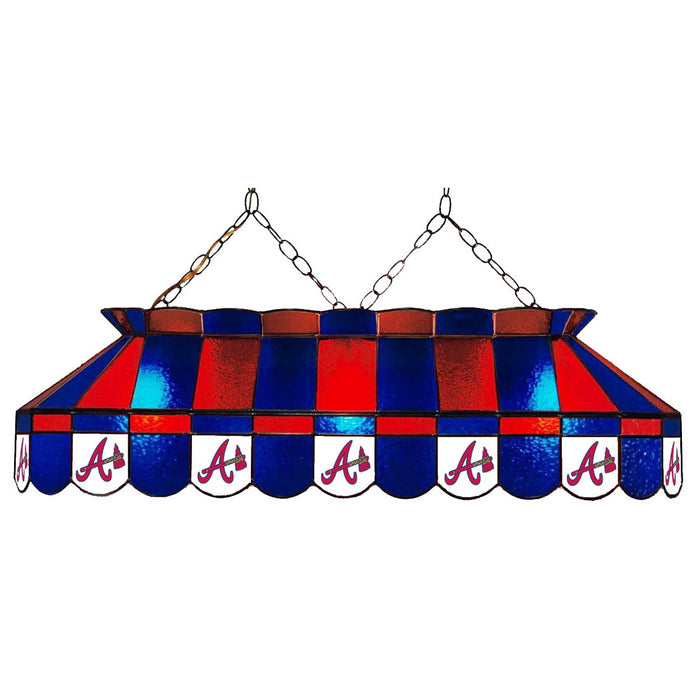 Atlanta Braves Stained Glass Pool Table Lamp | Man Cave Authority | IMP 18-2010