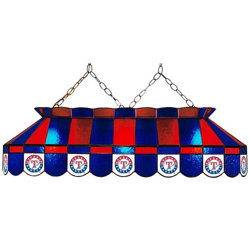 Texas Rangers Stained Glass Pool Table Lamp | Man Cave Authority | IMP 18-2020