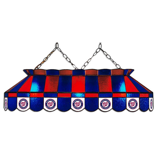 Washington Nationals Stained Glass Pool Table Lamp | Man Cave Authority | IMP 18-2033
