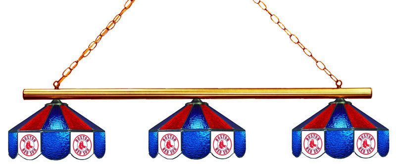 Boston Red Sox 3 Shade Glass Lamp | Man Cave Authority | IMP 18-2103
