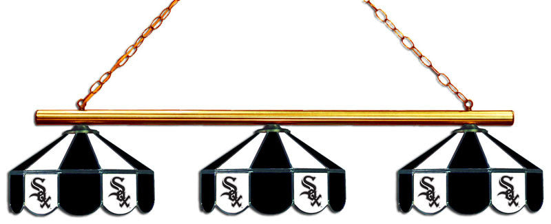 Chicago White Sox 3 Shade Glass Lamp | Man Cave Authority | IMP 18-2106