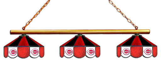 Cincinnati Reds 3 Shade Glass Lamp | Man Cave Authority | IMP 18-2107