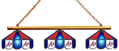 Atlanta Braves 3 Shade Glass Lamp | Man Cave Authority | IMP 18-2110