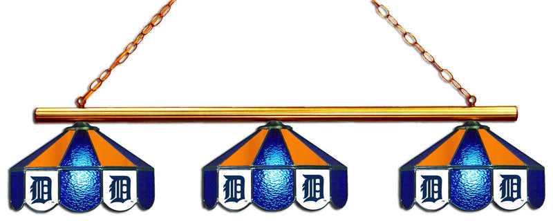 Detroit Tigers 3 Shade Glass Lamp | Man Cave Authority | IMP 18-2115