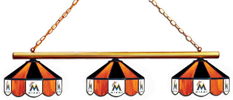 Florida Marlins 3 Shade Glass Lamp | Man Cave Authority | IMP 18-2124