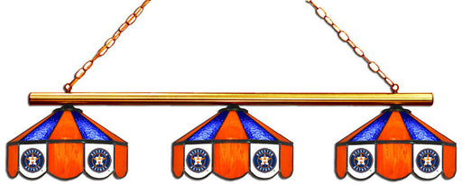Houston Astros 3 Shade Glass Lamp | Man Cave Authority | IMP 18-2125