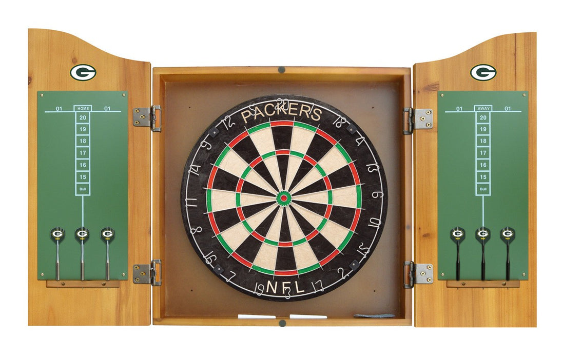 Green Bay Packers Complete Dart Cabinet Set