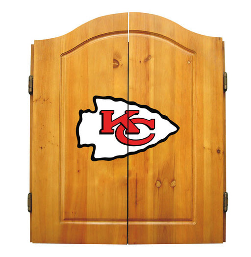Kansas City Chiefs Complete Dart Cabinet Set | Man Cave Authority | IMP  20-1006