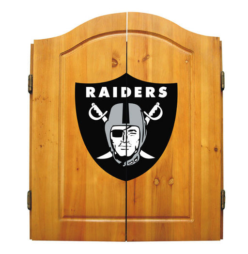 Oakland Raiders Complete Dart Cabinet Set | Man Cave Authority | IMP  20-1010