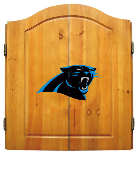 Carolina Panthers Complete Dart Cabinet Set | Man Cave Authority | IMP  20-1017
