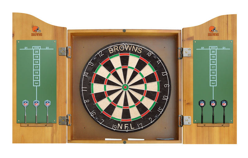 Cleveland Browns Complete Dart Cabinet Set | Man Cave Authority | IMP  20-1020