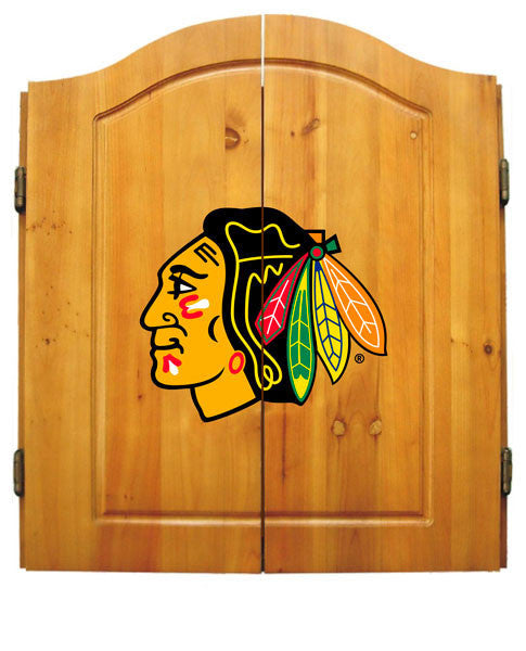 Chicago Blackhawks Complete Dart Cabinet Set | Man Cave Authority | IMP  20-4102