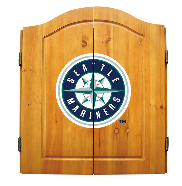 Seattle Mariners Complete Dart Cabinet Set