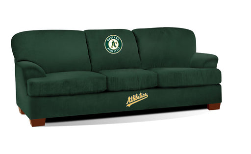 Oakland Athletics First Team Microfiber Sofa | Man Cave Authority | IMP 205-2018