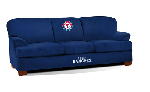 Texas Rangers First Team Microfiber Sofa | Man Cave Authority | IMP 205-2020