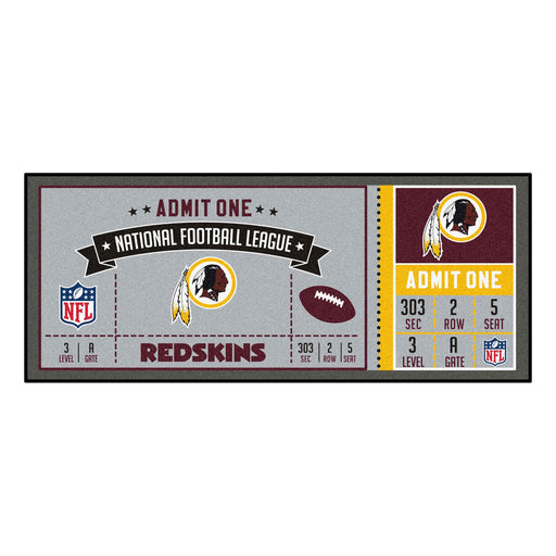 Washington Redskins Ticket Runner | Man Cave Authority | 23141