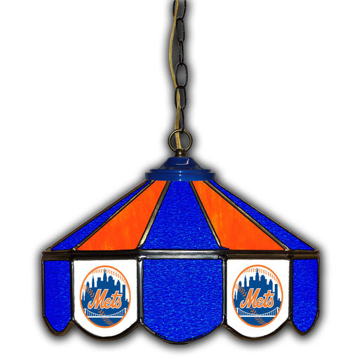 New York Mets Stained Glass Pub Lamp | Man Cave Authority | IMP 233-2002