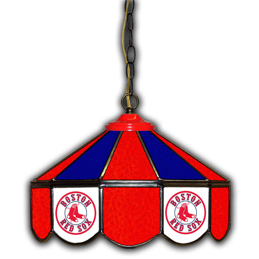 Boston Red Sox Stained Glass Pub Lamp | Man Cave Authority | IMP 233-2003
