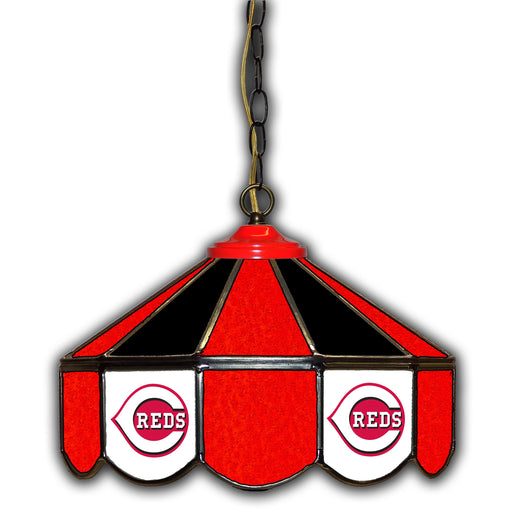 Cincinnati Reds Stained Glass Pub Lamp | Man Cave Authority | IMP 233-2007