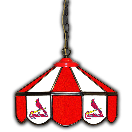 St Louis Cardinals Stained Glass Pub Lamp | Man Cave Authority | IMP 233-2008