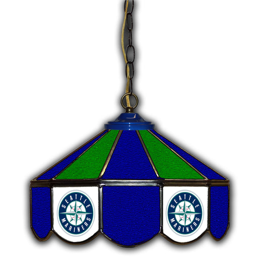 Seattle Mariners Stained Glass Pub Lamp | Man Cave Authority | IMP 233-2009