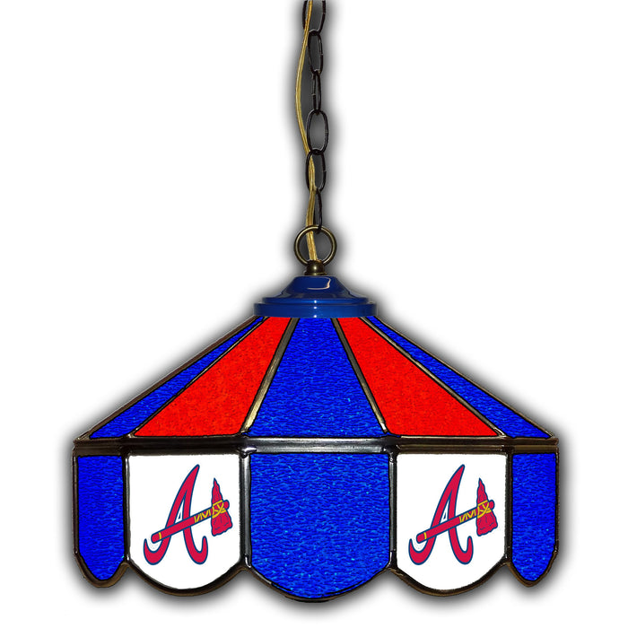 Atlanta Braves Stained Glass Pub Lamp | Man Cave Authority | IMP 233-2010