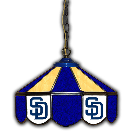 San Diego Padres Stained Glass Pub Lamp | Man Cave Authority | IMP 233-2011