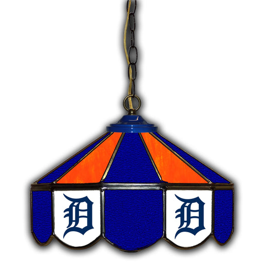 Detroit Tigers Stained Glass Pub Lamp | Man Cave Authority | IMP 233-2015
