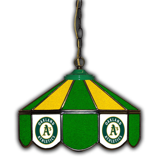 Oakland Athletics Stained Glass Pub Lamp | Man Cave Authority | IMP 233-2018