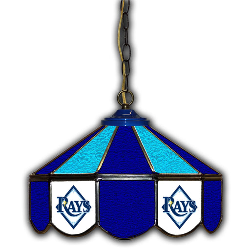 Tampa Bay Rays Stained Glass Pub Lamp | Man Cave Authority | IMP 233-2019