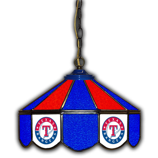 Texas Rangers Stained Glass Pub Lamp | Man Cave Authority | IMP 233-2020