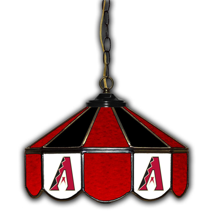 Arizona Diamondbacks Stained Glass Pub Lamp | Man Cave Authority | IMP 233-2022