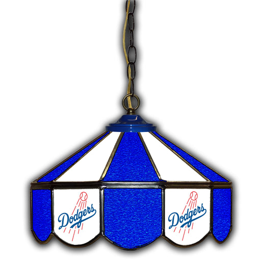 Los Angeles Dodgers Stained Glass Pub Lamp | Man Cave Authority | IMP 233-2026