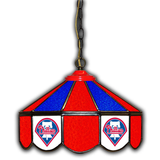 Philadelphia Phillies Stained Glass Pub Lamp | Man Cave Authority | IMP 233-2029
