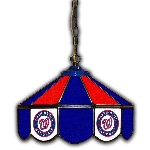 Washington Nationals Stained Glass Pub Lamp | Man Cave Authority | IMP 233-2033